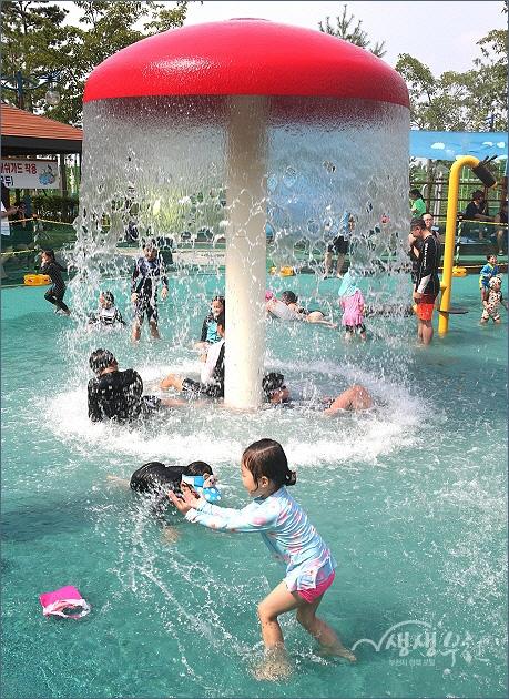 ▲ 수주공원 물놀이터
