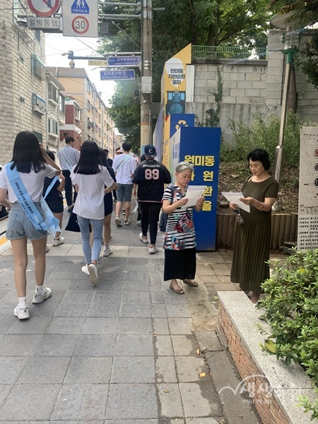▲ 쓰레기 무단투기 근절을 위한 청소년 환경지킴이 봉사활동
