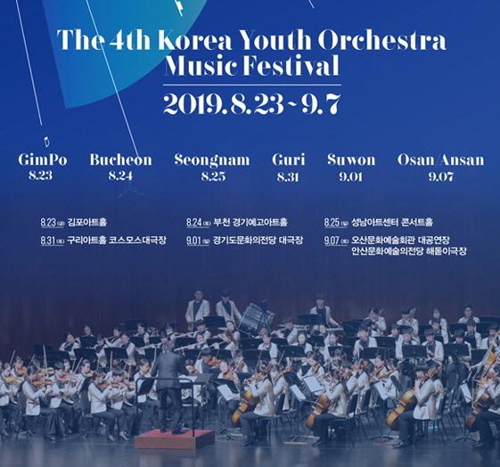 제4회 대한민국 청소년 교향악축전은 부천을 비롯한 7개 도시에서 진행된다.