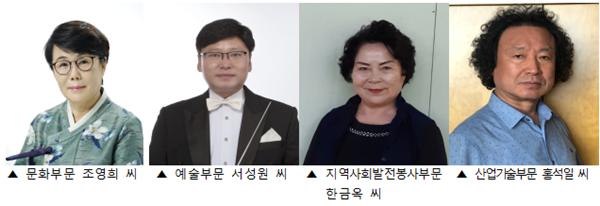 ▲ 제25회 부천시 문화상 수상자들