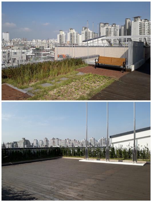 상동어울마당의 옥상, 상동마루광장.