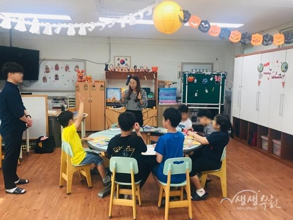 ▲ 부천시보건소에서 관내 초등학교로 찾아가 진행한 '건강식생활 교실'