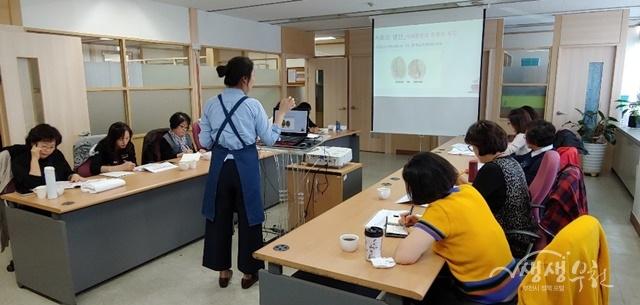 ▲ 부천시인생이모작센터 카페 바리스타 양성과정 교육 모습