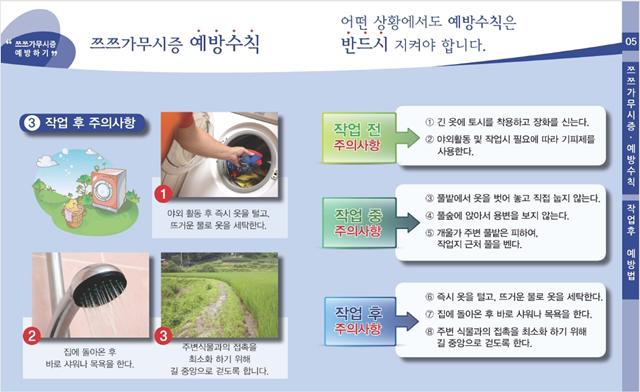 ▲ 진드기 매개 감염병 예방수칙