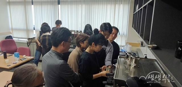 ▲ 2019년 제3기 커피머신관리사 양성과정 수업 사진