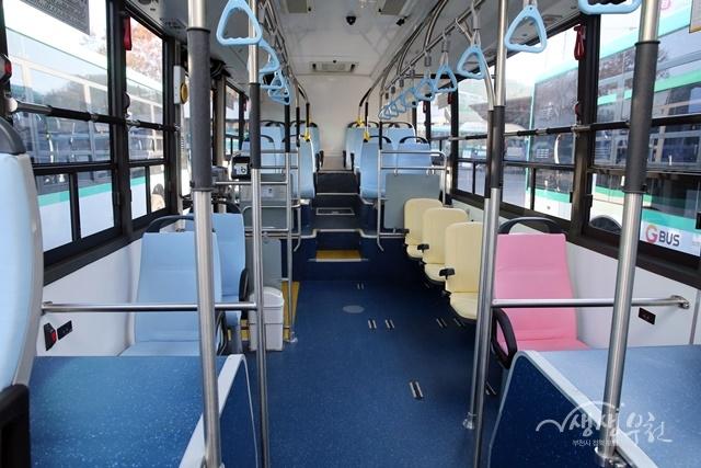 ▲ 전기버스 내부 모습
