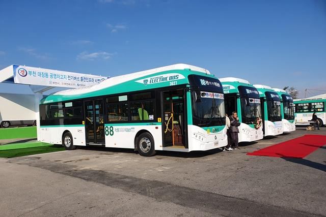 부천 시내버스, 친환경 전기로 달린다