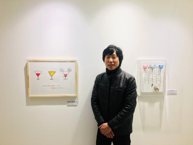 ▲ 사단법인 한국카툰협회 이사 이대호(고구마)작가와 작품