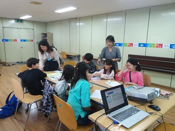 ▲ 초등과학교실-코딩게임