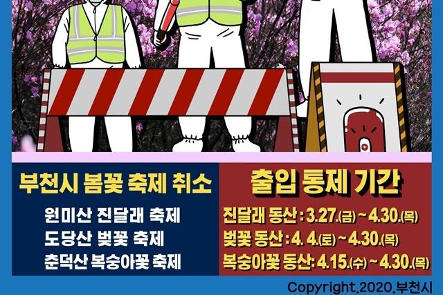 [카드뉴스] 꽃 축제 취소 및 출입 통제