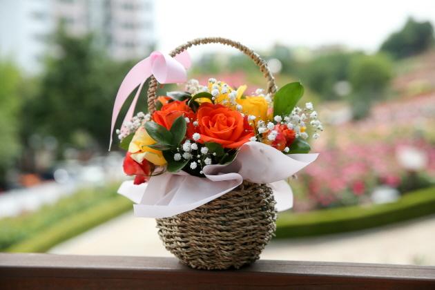 ▲ 응원의 꽃바구니