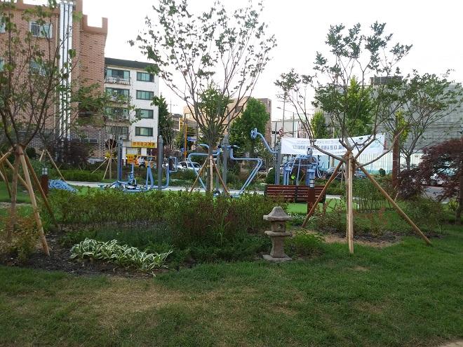 ▲ 이 소공원은 주택 밀집 지역의 숨통을 틔어줄 것으로 기대된다.