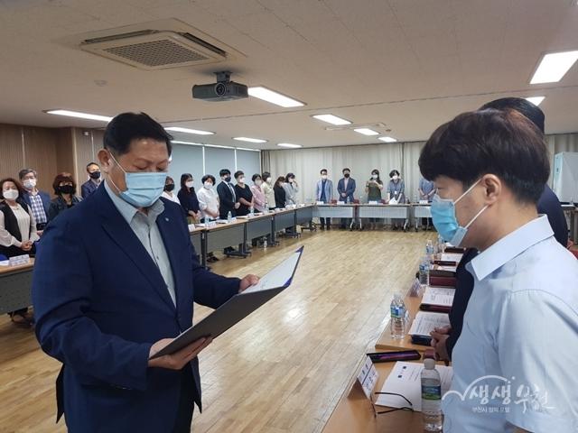 ▲ 지난 2일 부천시 대산동행정복지센터에서 주민자치회 위원 위촉식 및 최초회의를 개최하였다.