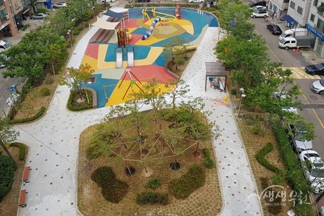 ▲ 새롭게 조성한 전원어린이공원의 모습