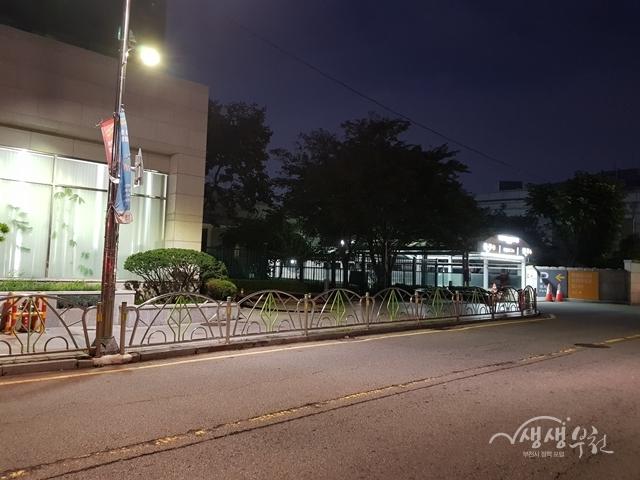 ▲ 심곡동행정복지센터에서 부천대학교 주변을 대상으로 조도개선공사를 완료하였다.