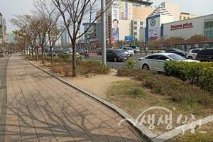 ▲ 상동역 8번 출구 일원 '쉼'이 있는 도시공간 조성 전