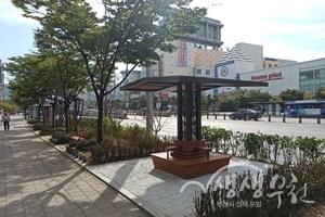 ▲ 상동역 8번 출구 일원 '쉼'이 있는 도시공간 조성 후