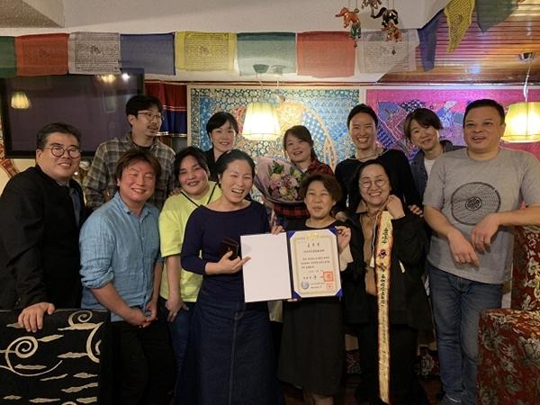 ▲ 세종문화상(대통령상)에 빛나는 아시아인권문화연대 식구들 모습