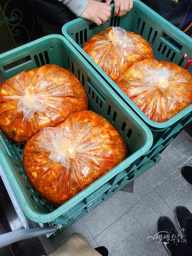 ▲ 도담푸드 동남집에서 후원한 김치