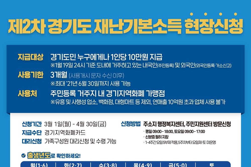 [카드뉴스] 제2차 경기도 재난기본소득 현장신청 안내
