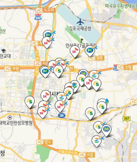 ▲ 부천지역 30개 셀프서비스 주유소 존재