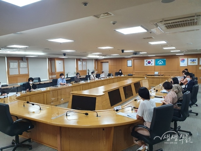 ▲ 부천시 지역사회 통합돌봄 선도사업 1차 컨설팅 모습