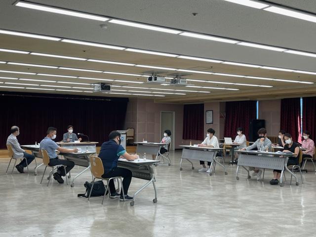 ▲ 부천시는 가맹점 모집 홍보를 위해 지난 9일 유관기관 및 관련 부서와 업무 회의를 개최했다